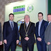 Joe Dolan, IHF President with Brian Meade, Fergus Sharkey, Dave Connolly and Tony Dunlea, Electric Ireland