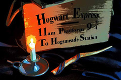 Hogwart Express Magic (fstop186) Tags: harrypotter hogwarts hogwartexpress magic wand candlestick travelcase platform9 magical fantasy hogsmeade station woodencrate ropehandles