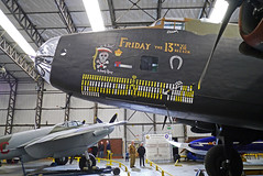 Friday the 13th - Handley Page Halifax (wontolla1 (Septuagenarian)) Tags: yorkshire air museum yorks york airmen airforce aircraft airfield ww2 fighter plane planes bomber jet handley page halifax friday 13th fridaythe13th milkruns yellow white bombs
