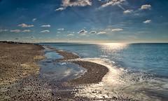 Blue day (Through Bri`s Lens) Tags: sussex lancing beach groynes pebbles stones polariser leelittlestopper brianspicer canon5dmk3 canon1635f4