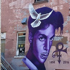 It's a Prince kind of day ... some activity going on at Paisley Park in Chan today  RIP 🙏 Beautiful mural in south Minneapolis  . . . #prince #1yearanniversary #purplerain #paislypark #musicgenious #rip #minnesotaboy (Ms.Wanderlust) Tags: frommyhood littleredcorvette paisleypark minnesotaboy talented music icon rip tragic purplerain purple prince instagramapp square squareformat iphoneography