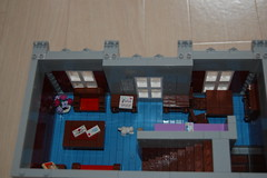 Apartment front (sander_koenen92) Tags: lego modular house doctor dalek weeping angel jewelry food store