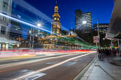 Town Hall Night Time (Dameto BT) Tags: longexposure night nikon sydney street wideangle