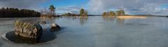 Rock on Icy Lake (talaakso) Tags: finland finnishlandscape ice järvi jää pinussylvestris rock terolaakso järvimaisema kivi kivikko lake lakelandscape mäntypine panoraama panorama talaakso pälkäne pirkanmaa fi