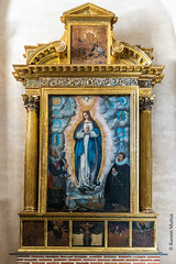 DSC6754 Retablo con la Virgen de Guadalupe, Iglesia del Monasterio de Santa María la Real de Nieva, (Segovia) (Ramón Muñoz - ARTE) Tags: monasterio de santa maría la real nieva virgen guadalupe
