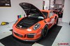 IMG_0780 (Jaron Cole) Tags: lava orange gt3rs xpel clear bra installation shine auto salon porsche ultimate self healing film install alpharetta ga georgia atlanta