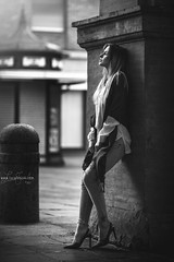 Nicole Dary (lucafoscili) Tags: outdoor beautiful beauty blackandwhite candid charming fashion fashionmodel fashionable female girl glamour goodlooking hair light look makeup model monochrome outfit people portrait realpeople seducing softlight style woman young parma emiliaromagna italia it