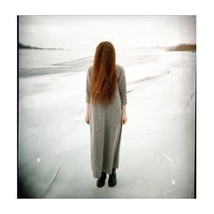 (yulia_adamova) Tags: film portrait strange holga surreal analog hair selfportrait longhair redhair wildhair lomography people