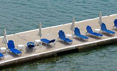 loungers on the wharf IMG_6372 (mygreecetravelblog) Tags: greece peloponnese tolo tolon toloresort tolobeachresort beachresort greekbeachresort beach tolobeach tolonbeach greekbeach coast shore seaside outdoor landscape pier jetty wharf loungechairs chairs sunbeds