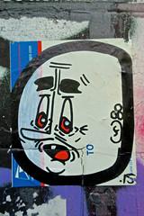 Face, San Francisco, CA (Robby Virus) Tags: sanfrancisco california sf ca face cartoon usps sticker slap portrait street art