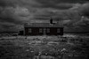 safe house (stocks photography.) Tags: michaelmarsh dungeness safehouse photography photographer coast seaside beach bw blackwhitephotography zeissotus canoneos5dsr