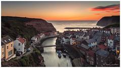 Just Before Sunrise (Mark Crawshaw) Tags: northsea coast eastcoast sunrise fishingvillage northyorkshire staithes canon1dx canon