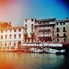 Venician boats 2 (sonofwalrus) Tags: holga film lomo lomography scan venice italy europe venezia italia city buildings architecture canal water boats xpro xprocessing