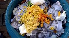 The Fast Italian (Eddy Allart) Tags: food waste wasted garbage bin basura afval restaurant