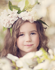 Spring fun (Wojtek Piatek) Tags: spring portrait dublin ireland child kid girl flower smile sony alphs a99 70200 sigma dof blurry eyes sharp