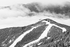 None Of This Is Real (kevstewa) Tags: skiing snow whiteface winter clouds inversion monochrome blackandwhite white mountain forest trees
