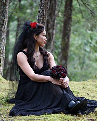 Tried my hand at wedding photography today....and the bride showed up in a black dress and totally rocked my world!  #weddingphotography #portraitphotography #bride #beautiful #outsideportraits #blackdress (dpiatka) Tags: beautiful portraitphotography blackdress weddingphotography bride outsideportraits
