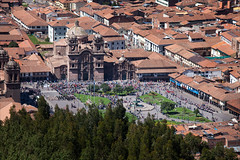 Cusco Festival 5 (kate willmer) Tags: city cityscape building church cathedral people crowd festival square cusco peru
