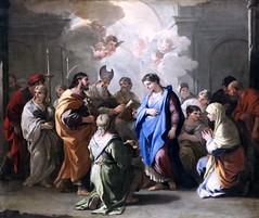 IMG_8472A Luca Giordano. 1634-1705. Naples.  Le mariage de la Vierge. The marriage of the Virgin.  vers 1688.    Louvre. (jean louis mazieres) Tags: peintres peintures painting musée museum museo france paris louvre lucagiordano