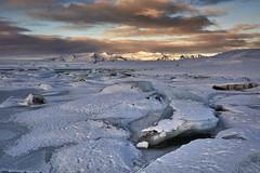 Fjallsárlón lagoon (nicolas.fernandez85) Tags: fjallsárlón iceland winter ice sunset landscape nikon d750 2470 travel light mountain lagoon