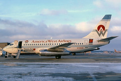 N708AW America West Airlines 737-112 at KCLE (GeorgeM757) Tags: americawest n708aw 737112 boeing 9vbbe n47af yv405c aircraft alltypesoftransport aviation airport georgem757 kcle clevelandhopkins