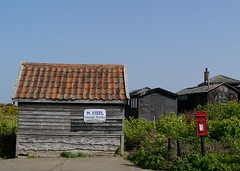 Beneath the Steely exterior (Grooover) Tags: sheds shacks huts post box sizewell suffolk grooover
