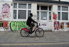 Ride (amirdakkak1) Tags: bicycle bike cycle human man outdoor london spring daytime environment urban streets street graffiti wall day