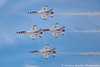 USAF Thunderbirds No.3 (Douglas Bawden Photography) Tags: usafthundervirds unitedstatesairforce canoneos6d canonef70200mmf40lusm canon14xextender nellisairforcebase aviationnation2016 lasvegas nevada generaldynamics f16fightingfalcon