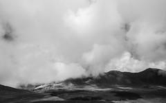 Central Crater, Tongariro (zh3nya) Tags: tongariro crater volcanic volcanism steam vent fumarole clouds tongariroalpinecrossing tongarironationalpark northisland newzealand hiking alpine mountain peaks rugged desolate volcano d750 tamron1530mm rocks tuff blackandwhite bw