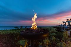 Fire in the Sky (pbuschmann) Tags: geoffreys malibu fire restaurant oceanview pacific sunset diner outdoor