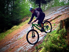 Dalbeattie Slab (Gee & Kay Webb) Tags: mtb mountainbike dalbeattie 7stanes scotland granite theslab trails trees adventure bike bronson santacruz bicycle
