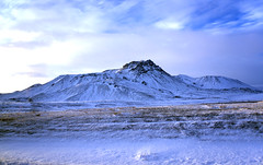 Iceland from a Bus (Michaela Schallaboeck) Tags: iceland bus trip holiday mountain volcano snow niceweather snapshot from blue sky cold ice