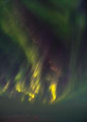 Aurora Storm and Milky Way (redfurwolf) Tags: southpole antarctica aurora auroraaustralis milkyway sky night stars star snow ice outdoor nature light green yellow redfurwolf sonyalpha a99ii sal1635f28za sony
