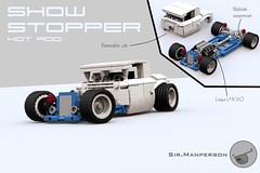Show Stopper Rod - 10-wide - Lego (Sir.Manperson) Tags: lego hot rod lfa engine chassis ldd render yee