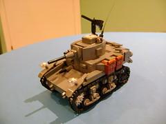 Custom Lego Stuart M3A1 3rd Prototype (tekmoc17) Tags: lego tank stuart m3a1 brick usa war custom moc ww2