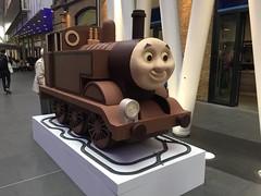 Giant Chocolate Thomas The Tank Engine (eyair) Tags: ashmashashmash uk england london thomasthetankengine chocolate easter kingscross