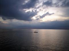 Meghna (Rafio Islam) Tags: river cloud boat evening sunset boatman fisherman water horizon landscape nature naturescape cloudy