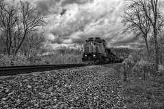 #2179 (John C. House) Tags: everydaymiracles nik spring nikon infrared d70s train johnchouse overcast traintracks