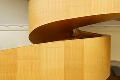 Baroque Stair (Alan Amati) Tags: amati alanamati toronto canada ago art gallery museum frank gehry ontario stairs stair staircase stairway spiral spiralstaircase circular wood douglasfir baroque public curve curves serpentine coil coiled topf25
