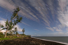 Cut Short (gpqua) Tags: astrophotography night photography moon light landscape seascape startrail beach baybay malinao albay philippines black sand polaris north star 16 6d 1740mm