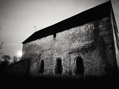 Full moon (patrikpersson) Tags: källa old church abandoned spirits ghost ghosts öland mirror refle reflection derelict desolate forlorn lorn cemetery full moon moonlight