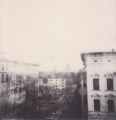Where the streets have no name (thombe77) Tags: polaroid sepia black white schwarz weis quadrat square strase street