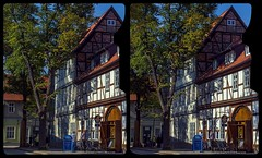 Historical Quedlinburg 3-D / CrossEye / Stereoscopy / HDR / Raw (Stereotron) Tags: sachsenanhalt saxonyanhalt harz mountains gebirge quedlinburg europe germany streetphotography architecture fachwerk halftimbered house stud work antiquated ancient medieval middleages crosseye crosseyed crossview xview cross eye pair freeview sidebyside sbs kreuzblick 3d 3dphoto 3dstereo 3rddimension spatial stereo stereo3d stereophoto stereophotography stereoscopic stereoscopy stereotron threedimensional stereoview stereophotomaker stereophotograph 3dpicture 3dglasses 3dimage hyperstereo twin canon eos 550d yongnuo radio transmitter remote control synchron kitlens 1855mm tonemapping hdr hdri raw ostfalen ostfalia hardt hart hercynia harzgau