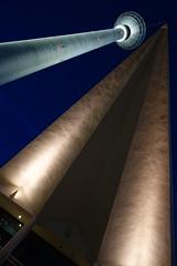 Blue hour tower (Pascal Volk) Tags: berlin mitte alexanderplatz fernsehturm berlinmitte televisiontower torredetelevisión dutchangle germanangle deutschangle justified blauestunde dämmerung zwielicht bluehour horaazul lheurebleue twilight dusk tvtower architecture architektur arquitectura sonydscrx100
