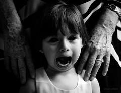 Possessed Girl (Jonas Hösler) Tags: creepy possessed blackandwhite blackwhite gloomy scary horror creepypasta creepygirl dark souls witch weird freaky zombie zombies ghost art alien artistic contrast eyes face girl child scream