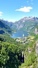 Geiranger (michellemätzig) Tags: nature europe norway geiranger blue water fjord awesome incredible exciting best beautiful wow favorite fantastic good gorgeous ship mountain landscape