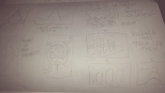 March Development Thumbnails (doodlemandrill) Tags: doodle pencil sketch moleskine concepts thumbnails