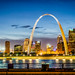 Gateway Arch St. Louis from Illinois