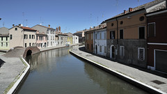 Comacchio (lorenzog.) Tags: comacchio house vividcolours ilobsterit building emiliaromagna italy april nikon d700 pontedeisisti