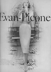 Evan-Picone 1956 (barbiescanner) Tags: vintage retro fashion vintagefashion 50s 50fashion vintagevogue vogue vintageads evanpicone jeanpatchett
